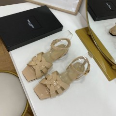 1:1 original leather Saint Laurent shoes YSL sandal outlet 00826 top quality