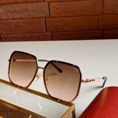 1:1 original leather Cartier Sunglasses for women CA0821 00920 top quality