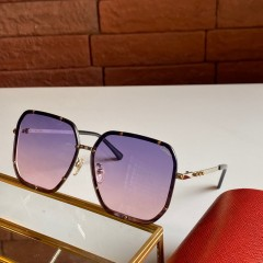 1:1 original leather Cartier Sunglasses for women CA0821 00922 top quality