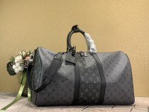 1:1 Original leather Louis Vuitton tote bag travel bag keepall bandouliere 50 M45392/M41416 01490 top quality