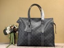 1:1 Original leather Louis Vuitton tote bag eclipse new cabas zippe GM M45379 01489 top quality