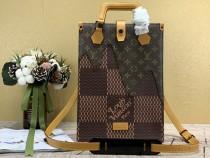 1:1 Original leather louis vuitton tote bag nigo monogram M45340 01524 top quality