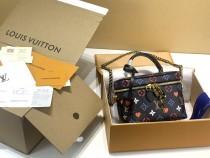 1:1 Original leather louis vuitton tote bag monogram reverse vanity pm M42264/M45165 01551 top quality
