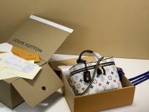 1:1 Original leather louis vuitton tote bag monogram reverse vanity pm M42264/M45165 01550 top quality