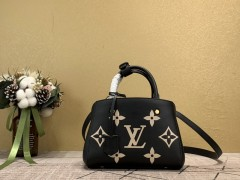 1:1 Original leather louis vuitton tote bag with strap montaigne BB M41055/M41056 01563 top quality