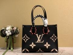 1:1 Original leather louis vuitton shoulder bag onthego M45375 01572 top quality