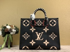 1:1 Original leather louis vuitton tote shoulders bag crafty onthego GM M45373/M44570 01574 top quality