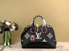 1:1 Original leather louis vuitton tote shoulder bag neo alma pm M44834 01571 top quality