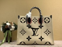 1:1 Original leather louis vuitton tote shoulders bag crafty onthego GM M45373/M44570 01575 top quality