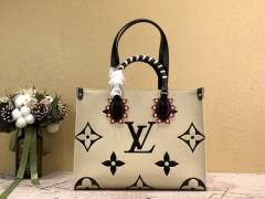1:1 Original leather louis vuitton shoulder bag onthego M45375 01573 top quality