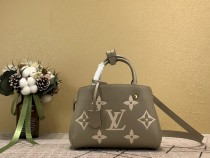 1:1 Original leather louis vuitton tote bag with strap montaigne BB M41055/M41056 01562 top quality