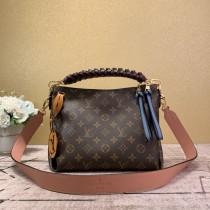 1:1 Original leather louis vuitton tote shoulders bag beaubourg hobo bag M55090 01576 top quality