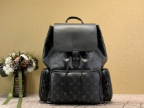 1:1 Original leather louis vuitton men tote bag backkpack Trio M45670 01578 top quality