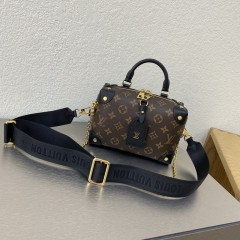 1:1 Original leather louis vuitton tote bag with strap 01583 top quality