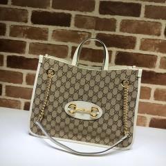 1:1 Original leather Gucci tote shoulder bag sale #621144 01593 top quality