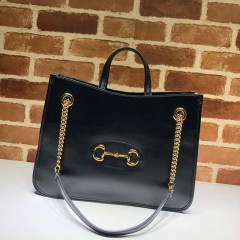 1:1 Original leather Gucci tote shoulder bag sale #621144 01590 top quality