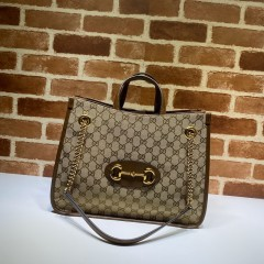 1:1 Original leather Gucci tote shoulder bag sale #621144 01592 top quality