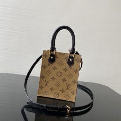 1:1 Original leather louis vuitton tote bag mini petit sac plat M57097/M69441 01598 top quality