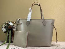 1:1 Original leather louis vuitton tote shoulder bag epi leather neverfull MM M54185 01619 top quality