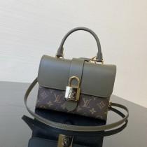 1:1 Original leather louis vuitton tote lock bag M44321 01661 top quality