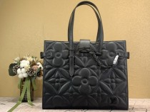 1:1 Original leather louis vuitton tote shoulder bag onthego M60725 01673 top quality