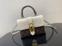 1:1 Original leather louis vuitton tote lock bag M44321 01660 top quality