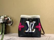 1:1 Original leather louis vuitton tote bucket shoulder bag Neonoe M56963 01691 top quality