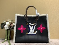 1:1 Original leather louis vuitton tote bag onthego M56958 01695 top quality