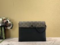 1:1 Original leather louis vuitton clutch bag pochette voyage steamer M30583 01699 top quality