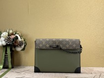 1:1 Original leather louis vuitton clutch bag pochette voyage steamer M30583 01698 top quality