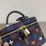 1:1 Original leather louis vuitton tote makeup bag M50138 01700 top quality