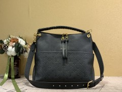1:1 Original leather black louis vuitton tote bag with strap melie M45522 01697 top quality