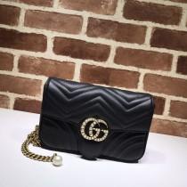 1:1 Original leather gucci shoulder/cross body bag sale #476809 01712 top quality