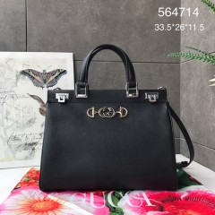 1:1 Original leather gucci tote bag with strap #564714 01734 top quality