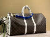 1:1 Original leather louis vuitton tote travel bag keepall 55 M41414 01756 top quality