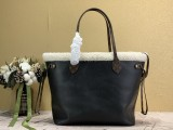 1:1 Original leather louis vuitton tote bag neverfull M56960 01758 top quality