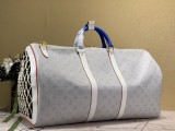 1:1 Original leather louis vuitton tote travel bag keepall 55 M41414 01757 top quality