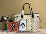 1:1 Original leather louis vuitton tote bag neverfull MM M57483/M40995 01760 top quality
