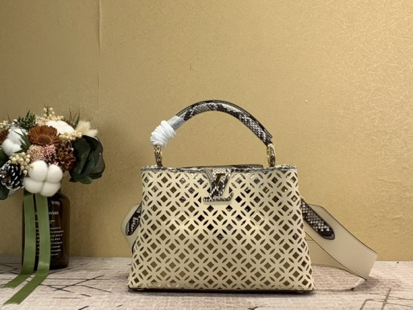 1:1 Original leather louis vuitton tote bag capucines M98426 01763 top quality