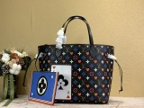1:1 Original leather louis vuitton tote bag neverfull MM M57483/M40995 01759 top quality