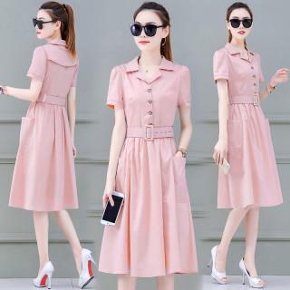 很仙的法國小眾連衣裙夏裝2020新款女裝夏季流行收腰中長款裙子潮