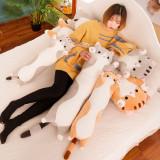 貓咪陪妳睡覺抱枕長條枕兔子布娃娃玩偶可愛女生公仔床上毛絨玩具
