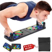 可折疊多功能伏地挺身撐板支架 健身器材 練腹肌板 俯臥撐板支架 免費送貨