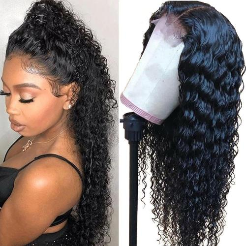 Brazilian Black Curly 360 Lace Frontal Wigs | Human Hair Wigs