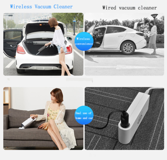 Car Vacuum Cleaner Wholesale Mini 12V Insurance Car High Power Hand-Held Vacuum Cleaner Air Purifier Air Freshener for Car Home