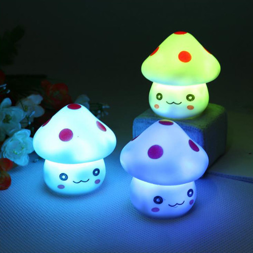 Romantic Colorful Mushrooms Christmas LED Night Light Lamp Baby Bedroom Desk Night Light Baby Toy