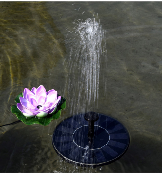 Drtools Mini Round Solar Suspension Floating Water Fountain For Garden Decoration Solar Fountain Pool Pond Decor Easy To Install