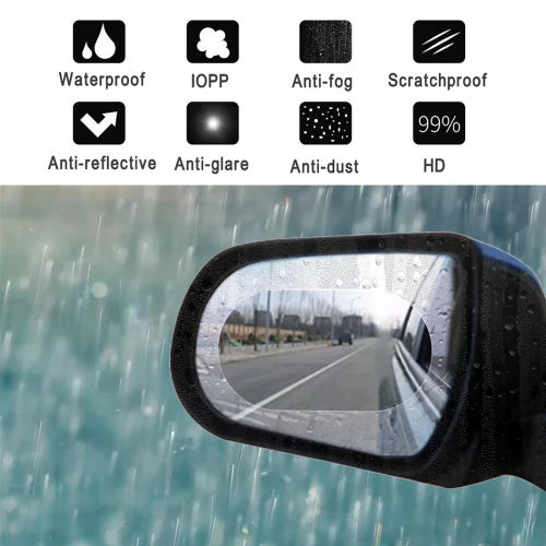 2pcs Anti-Fog Film Car Rearview Mirror Protective Film Anti Fog Rainproof Rear View Mirror Protective 135*95mm car accessries