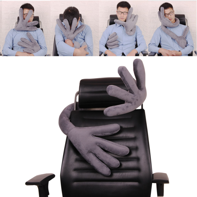 Travel Bend Pillow Plane Multi-function Car Pillow Hand Shape Pillow