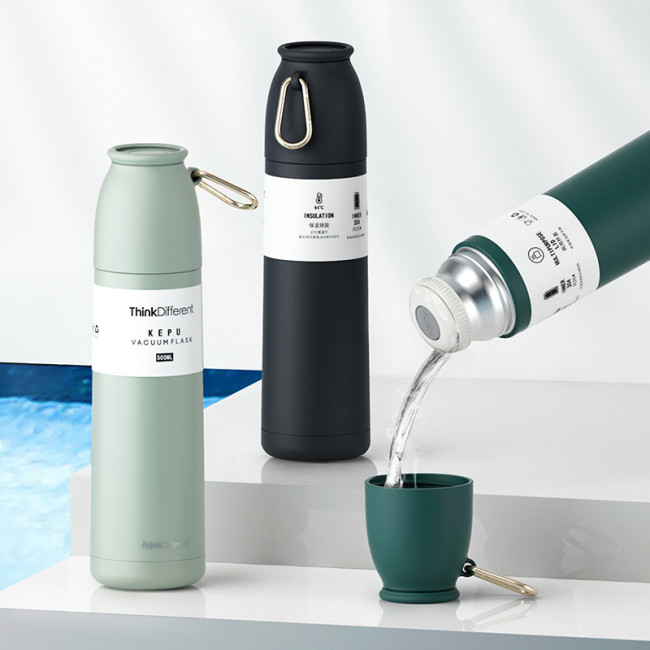 Water Bottle Vacuum Portable Printed Durable Sports Accessory